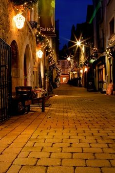 Galway, Ireland - 2014    Romantic night and place for a stroll...    #Places #Landscape #photography #Art