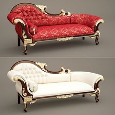 F&B Wedding Chaise Longue_A (Queen Anne's Revenge Chaise) Model available on Turbo Squid, the world's leading provider of digital models for visualization, films, television, and games.
