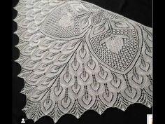 Hannelore Şal Kartlar Ve Açıklama - Lilly is Love Filet Crochet, Crochet Shawl, Lace Knitting, Knitting Stitches, Animal Knitting Patterns, Lace Making, Knitted Shawls, Shawls And Wraps, Crochet Flowers
