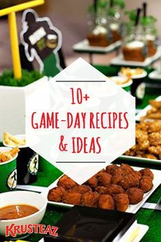 Don't fall victim to game-day hosting woes! Make it an easy and delicious day of cheering on your team with over 10 Game-Day Recipes and Football Party Ideas that your friends and guests will love! Complete with finger food appetizer ideas, themed cocktail recipes, and chocolatey dessert ideas—Krusteaz has you covered from the 1st quarter and halftime to the final touchdown!