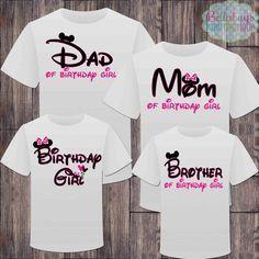 Matching Disney Family Girl Birthday Tshirts