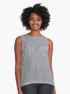 """Ultimate Gray #2"" Sleeveless Top by Kettukas 