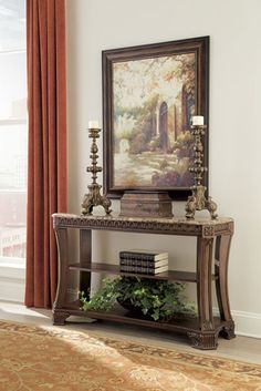 Ashley Ledelle Brown Sofa Table | Mathis Brothers Furniture