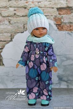 com dicas e tutorias de:Lista com dicas e tutorias de: Set knitted for MSD YOSD and similar dolls blue outfit от PetsLair Miranda - Red & Blue Cotton Dress Set Baby Doll Clothes, Doll Clothes Patterns, Clothing Patterns, Dress Patterns, Trash To Couture, Knitted Romper, Knitted Dolls, American Girl Clothes, Doll Shoes