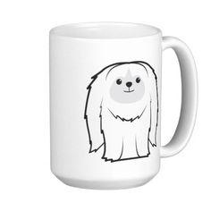 Pekingese Dog Cartoon Coffee Mugs