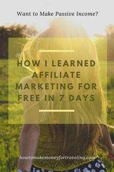 Affiliate Marketing - Free Online Course | HowToMakeMoneyForTraveling.com