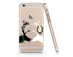 Cute Reindeer Couple Merry Christmas Clear Transparent Pl...
