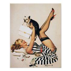 Puppy love pin-up, Gil Elvgren