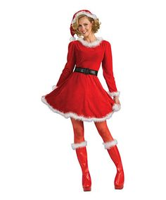 Take a look at this Red Mrs. Claus Dress-Up Set by Rubie's on #zulily today!