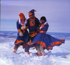 Traditional Clothing of Sami people in Lapland