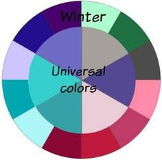 Winter and the Universal Colors #universal colors #Winter http://www.style-yourself-confident.com/universal-colors.html
