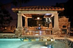This would be amazing! I love the idea of an outdoor kitchen with lounging and swim-up bar