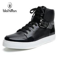 Blai Hilton 2017 Autumn  Winter men shoes Genuine Leather boots Breathable  Comfortable British Style 6121d7d97dfb