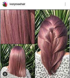 Pink purple grey hair rose silver gold hair colour idea medium length hair