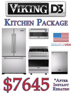 This Viking D3 Kitchen Package Is Only $7445 After Instant Rebates During  Our Memorial Day Sale