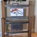 This is a Denver Broncos Bed frame, the tall one is the headboard, and the small is the footboard.