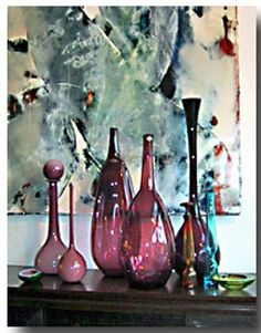Mid-century glass at Neptina in LA - (carry a large selection of 50's -70's Italian, Scandinavian, and American glass)