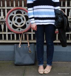 Denim and stripes. Simple