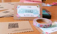 Tarjetas de visitas DIY /// DIY Business cards