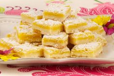 Zippy Lemon Bars - Recipes - Best Recipes Ever - For those who prefer a not-so-sweet treat, serve these tangy, citrusy tidbits. No Bake Desserts, Just Desserts, Delicious Desserts, Dessert Recipes, Dessert Ideas, Lemon Squares, Best Food Ever, Lemon Bars, Christmas Baking