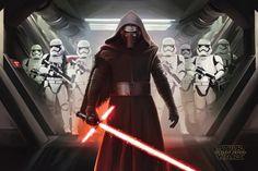 Poster STAR WARS - Kylo Ren & Stormtroopers www.rockagogo.com