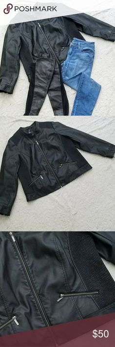 LANE BRYANT moto jacket Lane Bryant  Black moto jacket  Size 18/20 Jackets & Coats