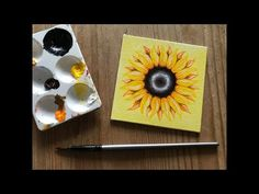 In this tutorial I show you how to paint a sunflower with acrylics on canvas! The video is sped up by from regular speed. Beginner Art, Art Tutorials, Acrylics, Make It Yourself, Canvas, Youtube, Painting, Tela, Painting Art