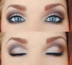 Make up to make those blue eyes pop! I'm always looking to enhance my blue eyes with the right eye make up. All Things Beauty, Beauty Make Up, Hair Beauty, Women's Beauty, Beauty Room, Bridal Beauty, Beauty Style, Girly Things, Purple Eye Makeup