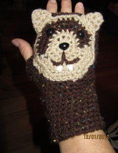 fingerless gloves -ferret
