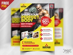 Today's special freebie is Gym Promotion Flyer PSD Template. This Gym Promotion Flyer PSD Template is perfect for businesses like Muscle and Fitness, Gym, Sport, Wellness or Bodybuilding Clubs.