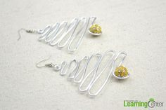 Handmade Earrings Designs- Make a Pair of Wire and Bead Earrings with Tree-figure - Pandahall.com
