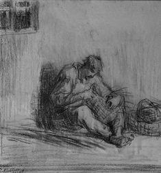 Cliché d'un #vannier dessiné au #fusain et crayon en #noir et nuances de gris. Un #métier d'artisanat pour la confection d'objets décoratifs ou utilitaires à l'aide de tiges fines et flexibles- #Photographie de Jules Sylvestre #numelyo #color #couleur