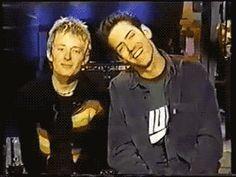 Thom Yorke and Ed O'Brien