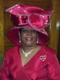 Church may refer to: Church Suits And Hats, Church Attire, Church Hats, Church Outfits, Kentucky Derby Outfit, Red Hats, Women's Hats, Queen Hat, Derby Outfits