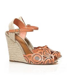 gia wedge espadrille / tory burch