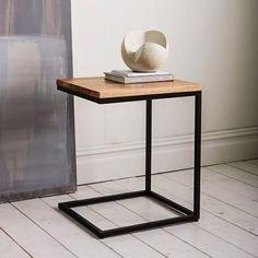 west elm Box Frame C-Base Side Table - Rustic Mango/Antique Bronze Industrial Side Table, Rustic Side Table, Rustic Coffee Tables, Modern Side Table, Industrial Storage, Metal Furniture, New Furniture, Furniture Design, Furniture Outlet