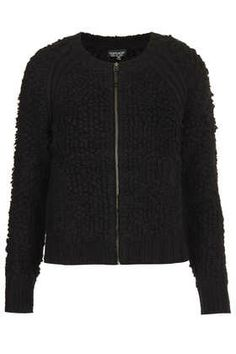 8c8da7771405 SHELLY Cutout Back Platforms. See more. Knitted Loopy Stitch Bomber -  Knitwear - Clothing topshop Iris Apfel