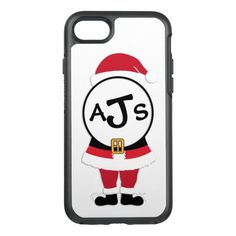 Cute Monogram Santa Christmas Otterbox Phone Case #christmas #phonecase #xmas #iphone