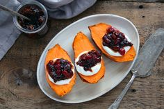 Sweet Potatoes With Cranberry Chutney Recipe - NYT Cooking