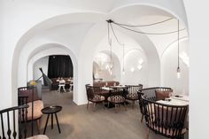 the Vienna interior design company destilat worked out an exciting interior design concept for the new Lingenhel shop, bar, restaurant and cheese dairy. Design Hotel, Design Studio, House Design, Cafe Restaurant, Restaurant Design, Bar Interior, Interior Design, Interior Ideas, Hotels