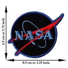 'NASA Logos Black Patch' Iron on Patch Appliques Hat Cap Polo Backpack Clothing Jacket Shirt DIY Embroidered Iron on / Sew on Patch ** Check out this great item. Sew On Patches, Iron On Patches, Nasa Patch, Sewing Crafts, Sewing Projects, Nasa Clothes, Diy Shirt, Cool Items, Shirt Jacket