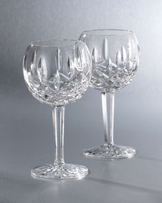 """Lismore"" Crystal Wine Glass by Waterford Crystal...always wanted real cutglass crystal ...simple , beautiful ,luxe and forever in style !"