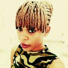 Straight Up Hairstyles, Cute Box Braids Hairstyles, Braids Hairstyles Pictures, African Braids Hairstyles, Hairstyles With Bangs, Blonde Hairstyles, African American Braided Hairstyles, African American Braids, Braided Hairstyles For Black Women