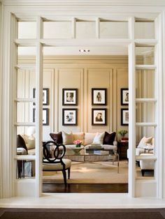 Windowless Panes Surround this Door Jam, Creating a Frame to Invite you into this Handsome Den.