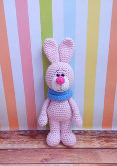 Crochet bunny with snood amigurumi pattern