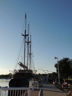 Ship docked at the Ludington marina