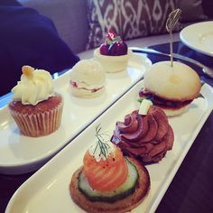 A Club InterContinental Lounge canape selection captured by @sugarandspice_nz. #delicious  #indulge