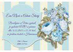 Svadobné oznámenie - SO254 Flowers, Royal Icing Flowers, Flower, Florals, Bloemen, Blossoms