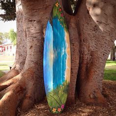By Commission Custom painted Surfboard by LiveLoveSurfDesigns