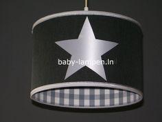 ... grijs ruitje  Kinderlampen jongenskamer  kinderlamp voor kinderkamer